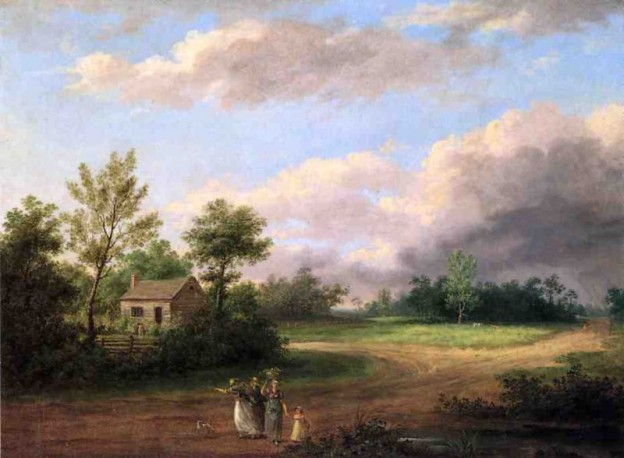 Thomas Birch, Strolling Along a Country Road