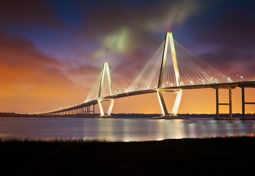 Arthur Ravenel Jr Cooper River Suspension Bridge, Charleston SC. Credit: Dave Allen Photography